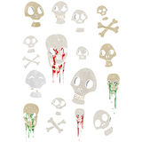 retro cartoon skulls collection Stock Photography
