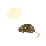 retro cartoon sleeping mouse Royalty Free Stock Photos