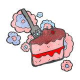Retro cartoon slice of cake Royalty Free Stock Image