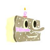 Retro cartoon slice of cake Stock Images