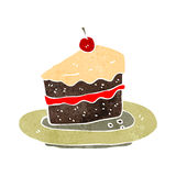 Retro cartoon slice of cake Stock Photo