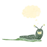 Retro cartoon slimy slug Royalty Free Stock Photography