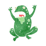 Retro cartoon slimy toad Stock Photo