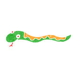 Retro cartoon slithering snake Royalty Free Stock Photography