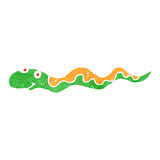Retro cartoon slithering snake Stock Photo