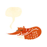 Retro cartoon sly fox Royalty Free Stock Images