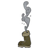 Retro cartoon smelly old boot Royalty Free Stock Image