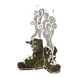 Retro cartoon smelly old boots Stock Photo