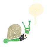Retro cartoon snail with speech bubble Stock Photos