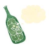 retro cartoon snake in bottle Stock Image