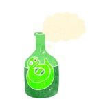 retro cartoon snake in bottle Stock Photography
