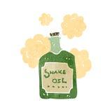 Retro cartoon snake oil Stock Image