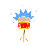 Retro cartoon snare drum Royalty Free Stock Image