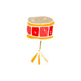 Retro cartoon snare drum Royalty Free Stock Photography