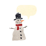 Retro cartoon snowman Stock Image