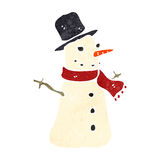retro cartoon snowman Stock Image