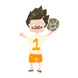 retro cartoon soccer player Stock Images