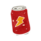 retro cartoon soda can Stock Image