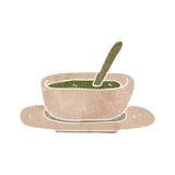 Retro cartoon soup bowl Royalty Free Stock Photo