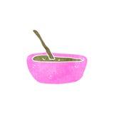 Retro cartoon soup in bowl Royalty Free Stock Photos
