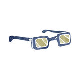 Retro cartoon spectacles Stock Images