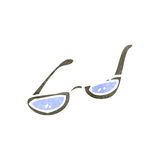 Retro cartoon spectacles Stock Image