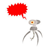 Retro cartoon spider robot Royalty Free Stock Images