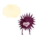 Retro cartoon spiky creature Stock Image
