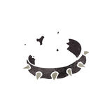 Retro cartoon spiky dog collar Stock Photography