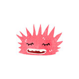 Retro cartoon spiky sea creature Stock Images