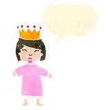 Retro cartoon spoiled little princess Royalty Free Stock Image