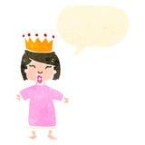 retro cartoon spoiled little princess Royalty Free Stock Image