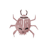 Retro cartoon spooky beetle Stock Image