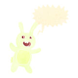 Retro cartoon spooky bunny rabbit Royalty Free Stock Photography