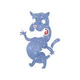 Retro cartoon spooky cat Stock Photos