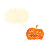 Retro cartoon spooky pumpkin Royalty Free Stock Photography