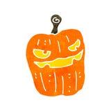 Retro cartoon spooky pumpkin Stock Image