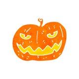 Retro cartoon spooky pumpkin Royalty Free Stock Photo