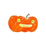 Retro cartoon spooky pumpkin Royalty Free Stock Images