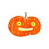 Retro cartoon spooky pumpkin Stock Photos