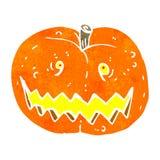 Retro cartoon spooky pumpkin Royalty Free Stock Image