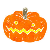 Retro cartoon spooky pumpkin Stock Photo
