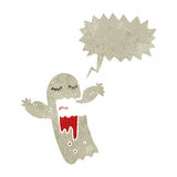 Retro cartoon spooky shrieking ghost Stock Photography