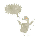 Retro cartoon spooky shrieking ghost Stock Photos