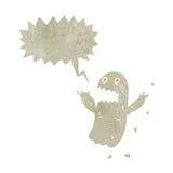retro cartoon spooky shrieking ghost Stock Photos