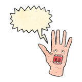 Retro cartoon spooky shrieking hands Stock Photo