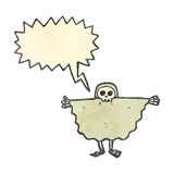 Retro cartoon spooky skeleton costume Royalty Free Stock Photos