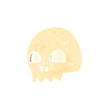 Retro cartoon spooky skull Stock Image