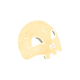 Retro cartoon spooky skull Royalty Free Stock Image