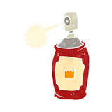 Retro cartoon spray paint can Royalty Free Stock Photos
